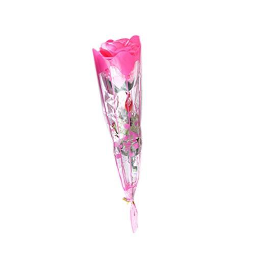 happy event 1pc LED Flashing Simulation Romantic Rose Flower Night Light Gifts (Rosa) Rosa Rose Night Light