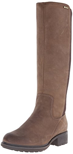Rockport First St. Waterproof Gore Tall Boot Cuir Botte Burnt Cake Waxy