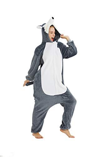 Fasching Onesie Jumpsuit Kostüm Tier Schlafanzug Erwachsene Einhorn (Kostüm Tiere)