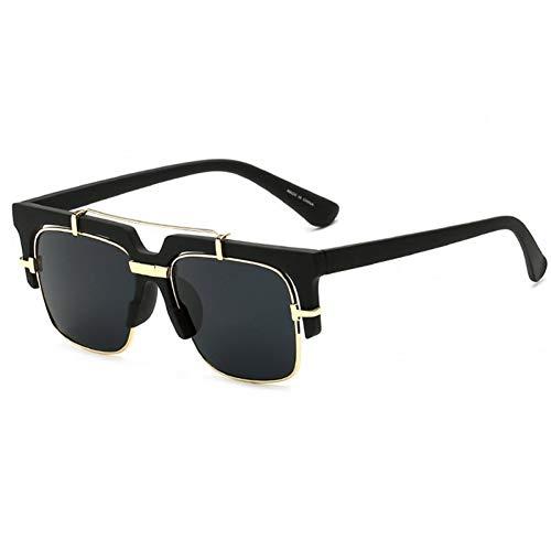 Taiyangcheng Polarisierte Sonnenbrille Markendesigner-Sonnenbrille Damenmode Metall Steakpunk-Sonnenbrille Herren-Sonnenbrille Marke Randlose Oversize-Sonnenbrille Plain Glass,c9