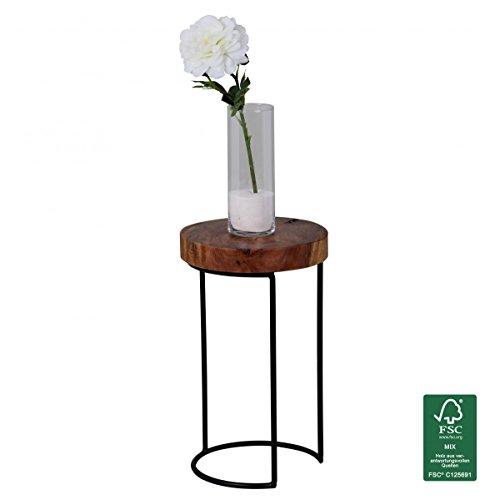 Gebraucht, WOHNLING Beistelltisch Massiv-Holz Sheesham Wohnzimmer-Tisch gebraucht kaufen  Wird an jeden Ort in Deutschland