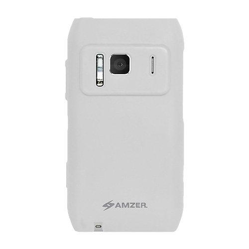 Amzer - Custodia in silicone per Nokia N8, colore: bianco trasparente