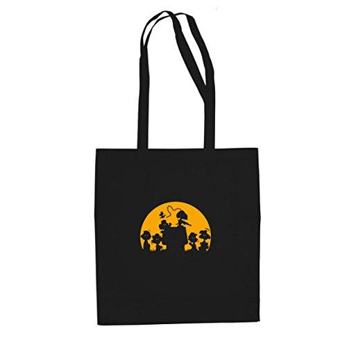Bon Shopper (Planet Nerd Walking Peanut - Stofftasche/Beutel, Farbe: schwarz)