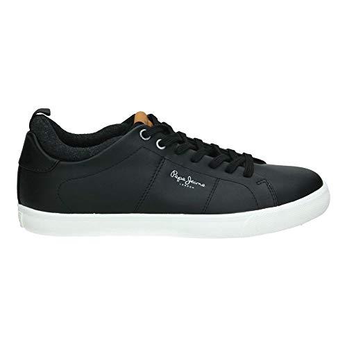 Pepe Jeans London Marton Basic, Zapatillas para Hombre, Negro (Black 999), 44 EU