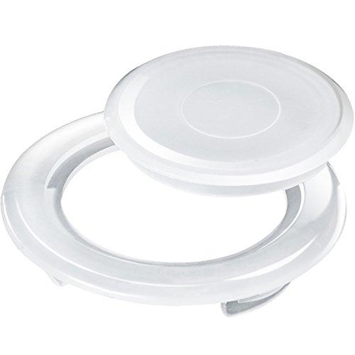 Kunststoff Patio Set (Bememo 2 Zoll Patio Tischschirm Loch Ring und Kappe Set, Standardgröße Regenschirm Dicker Loch Ring Plug und Cap Set (Transluzent))