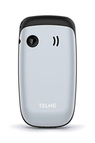 TELME X210_001_S Klapphandy, Dual SIM, bedienfreundlich, einfache Kamera, Notruffunktion Silber