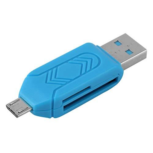 Noradtjcca ABS 55 x 16 x 10 mm (L x B x H) Universal-Kartenleser Handy PC-Kartenleser Micro-USB-OTG-Kartenleser Flash-Speicher