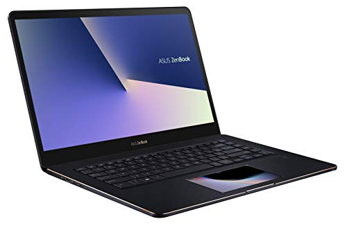 ASUS ZenBook Pro 15 UX580GE (90NB0I83-M00920) 39,6 cm (15,6 Zoll, UHD, WV, Touch) Ultrabook (Intel Core i9-8950HK, 16GB RAM, 1TB SSD, NVIDIA GeForce GTX1050Ti (4GB), Windows 10) Deep Dive Blue