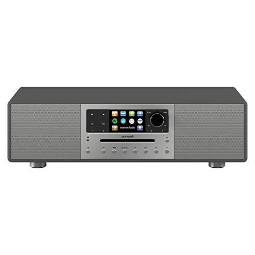 sonoro MEISTERSTÜCK Kompaktanlage Streaming+ (FM/DAB+, CD, AUX, Bluetooth, Spotify, Amazon Music, Napster, Qobuz, Tidal, Deezer) Matt Graphit