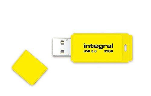 Integral Neon 32GB USB-Stick USB3.0 gelb -