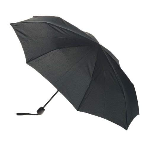 GT Gloptook Black 3-Fold Umbrella, Water Proof | Rain, Sun & UV Rays Protection Umbrella for Men and Women (Color May Vary)