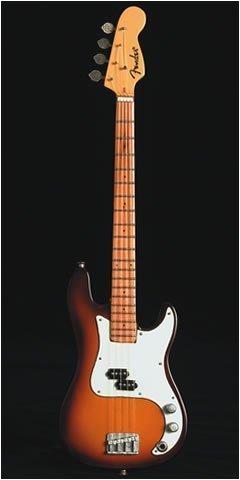 Baby Axe Autorizado Fender Precision Bajo Sunburst Miniatura Ornamental Guitarra