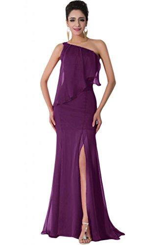 Sunvary Chiffon Una spalla, alla moda, per abiti da sera Grape