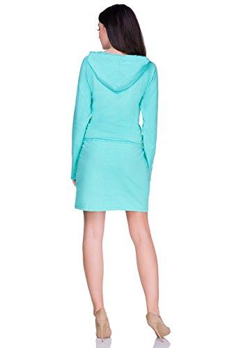 FUTURO FASHION Damen Column Kleid rosa korallenrot Einheitsgröße Aqua