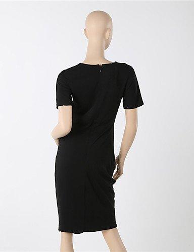 PU&PU Robe Aux femmes Soirée / Travail Mi-long Coton / Polyester / Spandex yellow-2xl