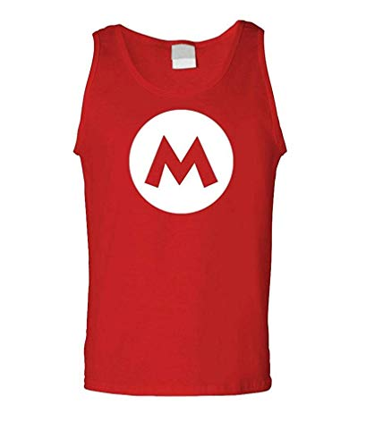 Aktivist Kostüm - HVCMNVB Mario - Video Game Costume Halloween Funny - Mens Tank Top XXXL