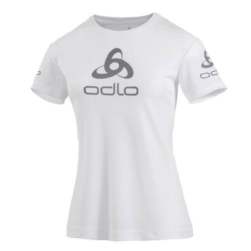 Odlo 200881 T-Shirt ras de cou à manches courtes pour homme Logo Line Blanc - Blanc