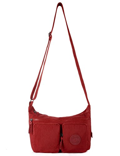 Oakarbo, Borsa a tracolla donna rosso 955 Violet red 955 Red