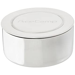 AceCamp 1529 Stainless Steel Collapsible Cup, Silver, 5 fl. oz.
