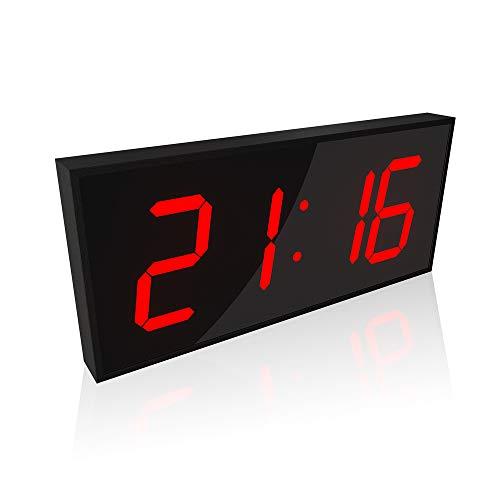 CHUDAN LED Elektronische Wanduhr 3D Digitaluhr mit Countdown-Funktion Wecker und 8 einstellbaren Helligkeitsstufen Dimmbare Für Home Office Turnhallen The Mall Hospital Subway,Red
