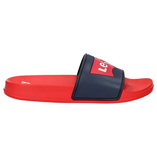 Levis Pool - Chanclas Niño Rojo Talla 39