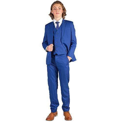 Romario - Traje - para niño Azul Azul Marino 13-14 Años