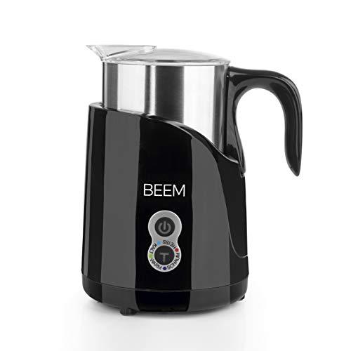 Beem 1110BK Milchaufschäumer 1110BK-Elements of Coffee & Tea, 650 W, 4 Programmstufen, Erhitzen und Aufschäumen, Edelstahl, Schwarz