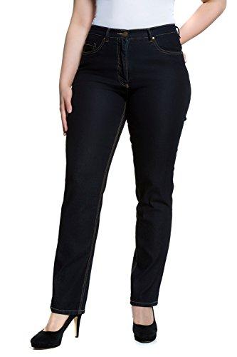 Ulla Popken Damen große Größen bis 64, Hose, Jeanshose, Stretchhose, Jeans, Denim, 5-Pocket-Form darkblue 52 702859 93-52