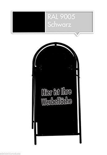 XXL Kundenstopper Werbeaufsteller Werbetafel in verschiedenen Farben (Schwarz)