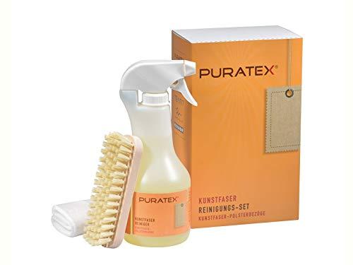 LCK PURATEX Kunstfaser Reinigungsset 4 tlg. geeignet für die Reinigung und Pflege von Polstermöbeln aus Kunstfaser.
