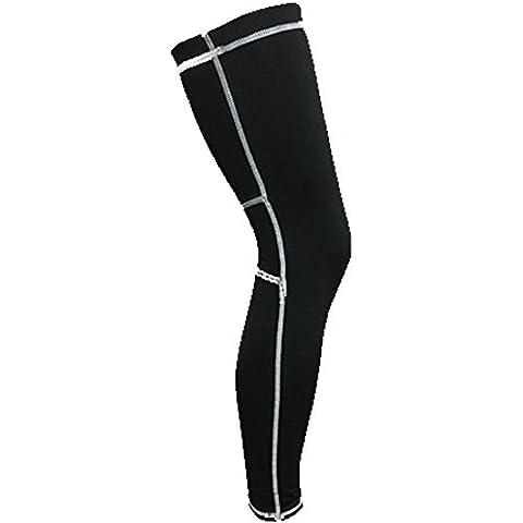 Professionale sopra al ginocchio maniche Supporta gamba calzamaglia polpaccio per basket allenamento palestra CrossFit, corsa, (Footless Stretch Calze)