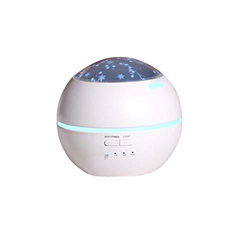 Humidificador De Aromas, Luz Del Hogar Y Sombra Máquina De Aromaterapia Purificador De Aire Coloridas Luces USB De Noche (Color : White)