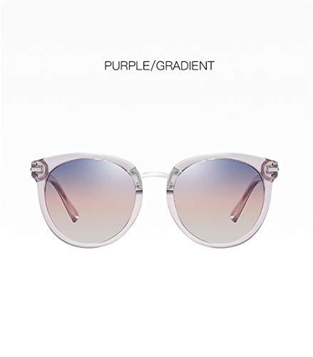 Wang-RX Mode Frauen Polarisierte Sonnenbrille Retro Übergroße Runde Legierung Scharnier Sonnenbrille Für Damen Weibliche Höfliche Gläser