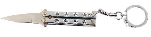 Yantec Mini Butterfly Messer Silber