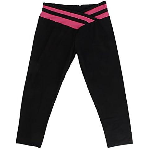 Las Mujeres \ 's De Los Deportes De Gimnasia Atlética De Las Polainas De La Pretina De Los Pantalones De Yoga De Fitness L