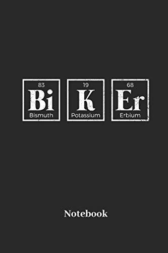 Biker Notebook: Liniertes Notizbuch für Biker, Radler und Fahrrad Fans - Notizheft Klatte für Männer, Frauen und Kinder