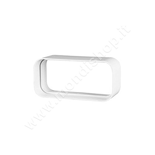 Giunto 220x90 mm per Aerazione Canalizzata Cappa Cucina adatto per Tubi di Areazione di Tipo Rettangolare in Pvc Colore Bianco