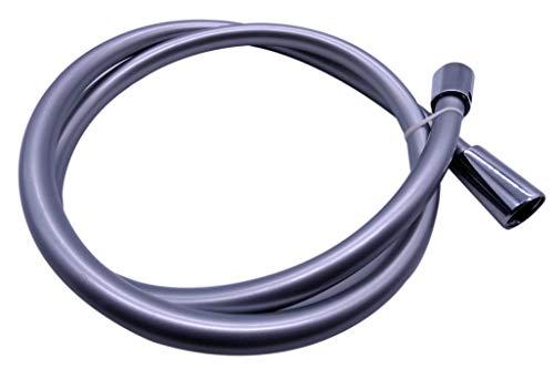 Brauseschlauch (Silber/Chromoptik) 1,25 m Länge by kör4u | Sechsschichtiger DESIGN-Kunststoff-Schlauch knickfest und reinigungsfreundlich | Made in Germany