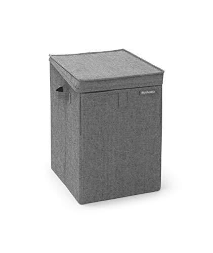 Brabantia Stapelbare Wäschebox, 35L, Pepper Black, Kunststoff