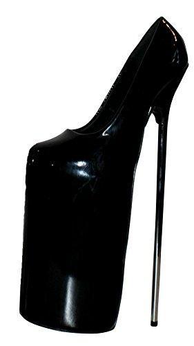 EROGANCE 30 cm Extrem Plateau High Heels Lack Pumps Schwarz EU 36 - 46 / A6153 Black