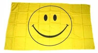 Flaggenking Flaggen/Fahnen, Smile Smily Smiley, wetterfest, Mehrfarbig, 150 x 90 x 1 cm, 16350