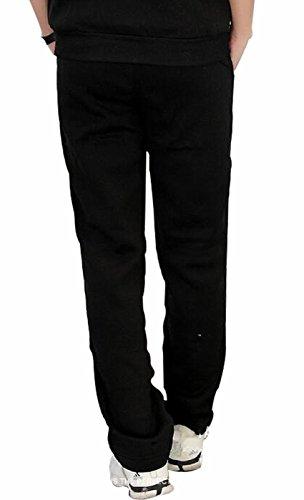 I VVEEL Herren Buchstaben-Muster lose passen Jogger Hose (Elastische Nike Jersey Taille)