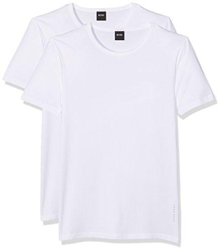 BOSS Herren RN 2P CO/EL T-Shirts, Weiß (White 100), X-Large (2erPack) -