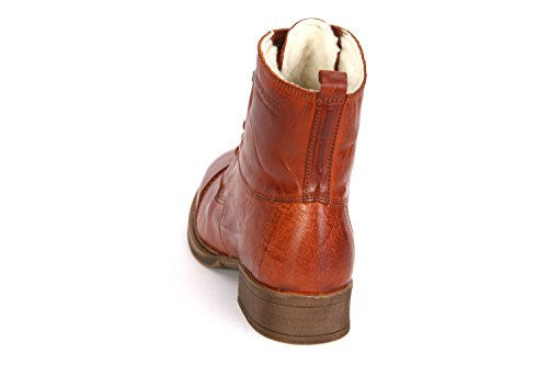 Ten Points PANDORA - Femme Bottines Cowboy Bottines de motard Bottes - 122002 Marron (Brandy)