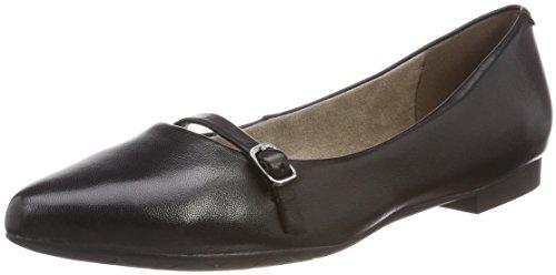 Tamaris Damen 24234 Geschlossene Ballerinas, Schwarz (Black Leather), 40 EU