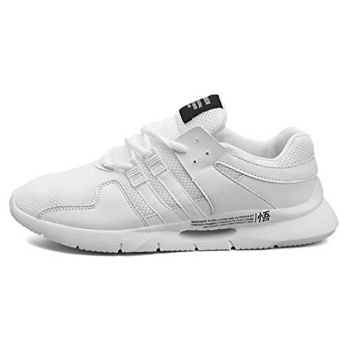 schuh Sneaker Lace Up Mesh Dicke Sohle Laufschuhe Freizeitschuhe Atmungsaktiv Leicht Sportlich Geeignet für Jugend drinnen und draußen Bergsteigen Lauftraining ()