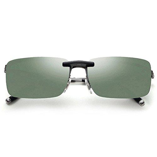 iKulilky One-piece Sonnenbrillen Clip-on Sonnenbrillen polarisiertes Objektiv Brillen fahren Angeln Outdoor Sport Glas Nacht Autofahre Brille
