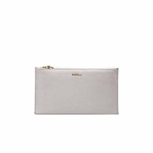 hoom-simple-cuir-long-bi-fold-walletgris-clair