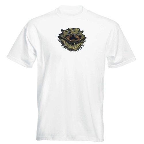 T-Shirt - Reptilien 04 - Leguan - iguana - reptilian - Herren - unisex Weiß