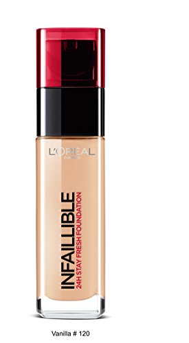 L'Oreal Paris Infallible 24Hr Liquid Foundation, Vanilla 120, 30ml